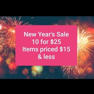 New Year's sale 10 for $25